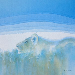Lines of a Lioness acrylic by Alison Nicholls © 2103