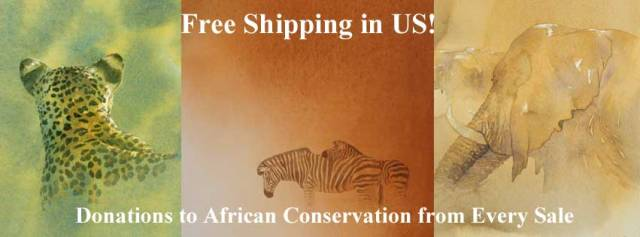 Free Shipping & Donations to Conservation - Art Inspired by Africa