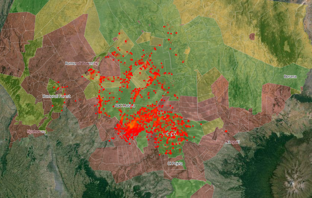 What Do Elephants Do All Day? Interactive Map of GPS Collared Elephants in Kenya.