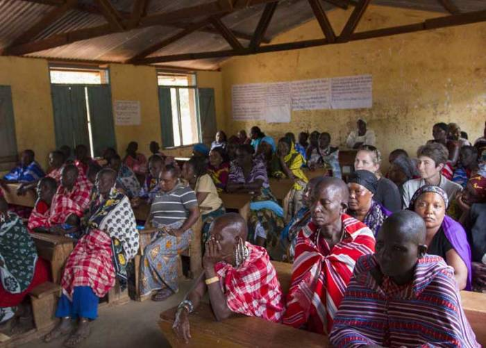 Women receiving Micro Grants from APW in Tanzania   photo by African People & Wildlife Fund/Deirdre Leowinata