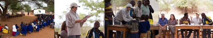 Alison Nicholls at Loibor Siret Primary School, Tanzania