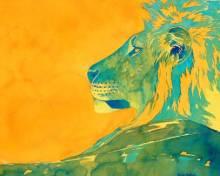 Lion Head by Alison Nicholls