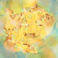 "Living Walls, acrylic 29x29"" by Artist Alison Nicholls"