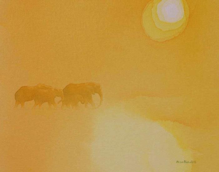 5pm acrylic on canvas 11x14 by Alison Nicholls