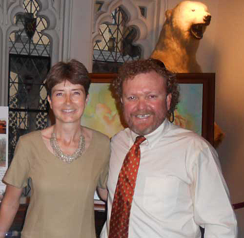 Alison Nicholls with Charles Trout