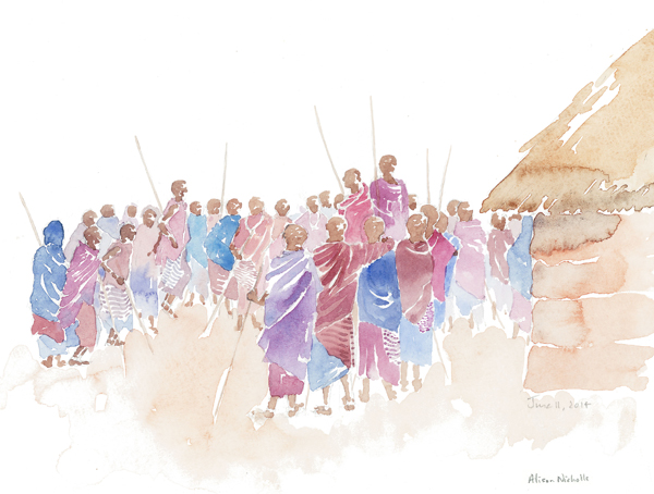 Celebration Field Sketch by Alison Nicholls