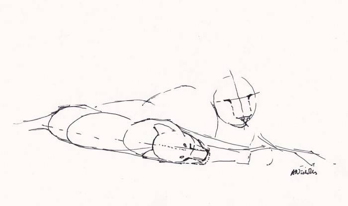 Lions sketch demo by Alison Nicholls