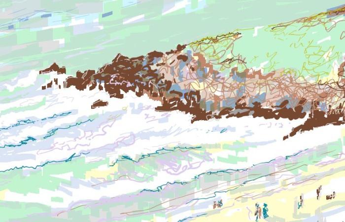 St Ives Sketch © Alison Nicholls 2014