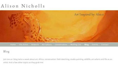 Alison Nicholls Blog